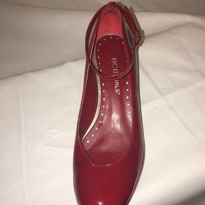 BCBG Red Patent Platform Shoes